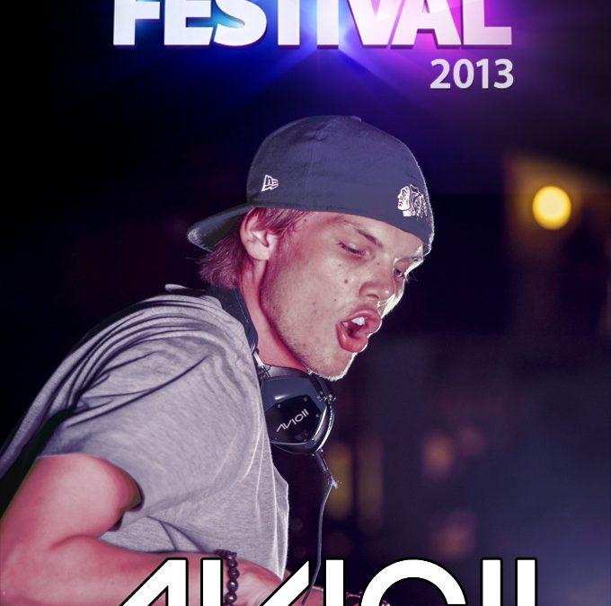 Avicii iTunes Festival 2013 cover art poster