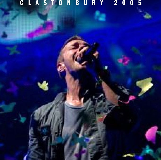 Coldplay Glastonbury 2005 cover art poster